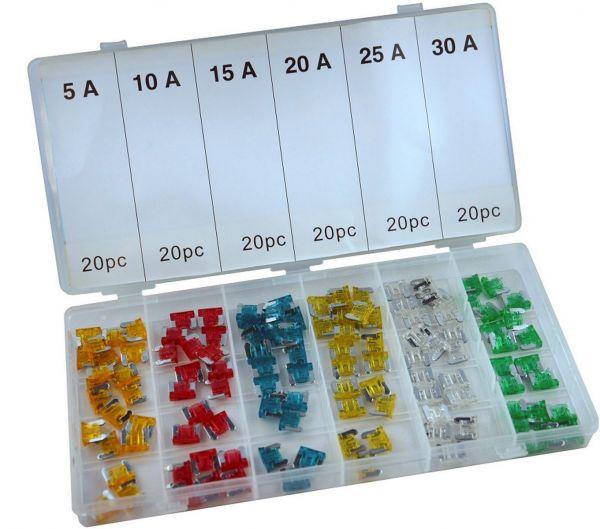 KFZ Sicherungen Micro 120 tlg. (10 mm)