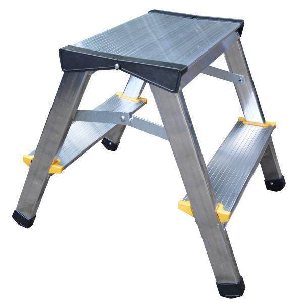 Leiter aus Aluminium 2 - 3 - 4 Stufen bis 150 kg